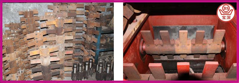 pressing paddle of brick making machine